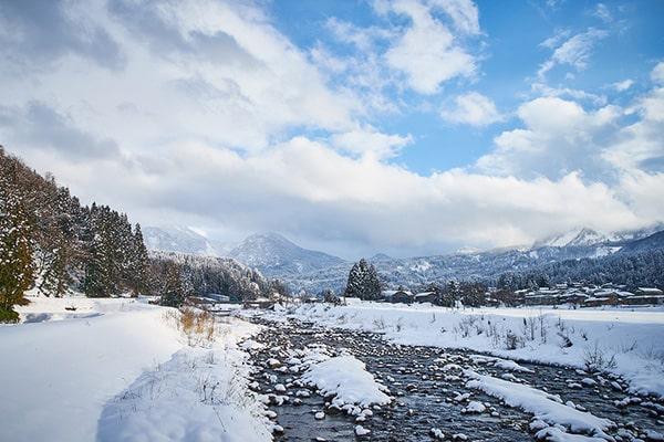 根知谷雪景色