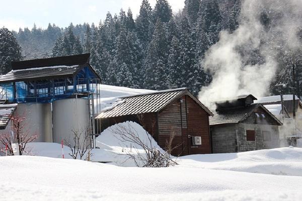 窯場からの蒸気